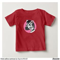 Cute zebra cartoon t-shirt