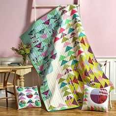 FreeSpirit Fabric: Free Misdirection quilt pattern using Elizabeth by Tula Pink