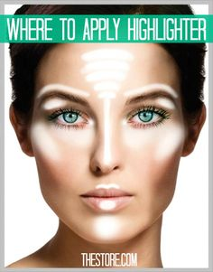 #BeautyTip - Where To Apply Highlighter. #TheStore
