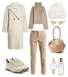 A fashion look from September 2017 featuring colorful dresses, double breasted coat and brown boots. Browse and shop related looks. Capsule Outfits, Chic Outfits, Fall Outfits, Fashion Outfits, Womens Fashion, Mode Ootd, Mode Hijab, Blazer And T Shirt, Everyday Casual Outfits