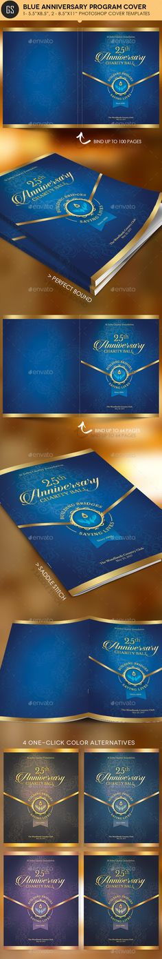 Blue Anniversary Gala Program Cover Template - Magazines Print Templates Download here : https://graphicriver.net/item/blue-anniversary-gala-program-cover-template/19417560?s_rank=16&ref=Al-fatih