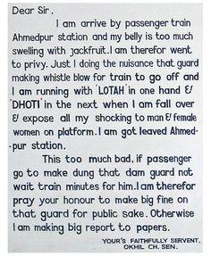 Railways-Letter