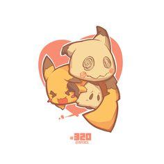#320 Pokemon Pikachu Mimikyu A6 Artcard by Jrpencil - Thumbnail 2