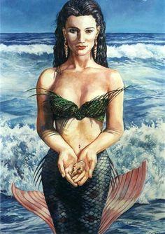 Yemaya Assessu Reading goddess yemaya Yemaya by BeachAngelTarot, $17.77