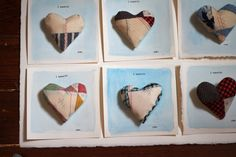 Fabric hearts by Kayte Terry