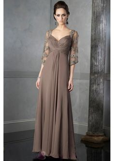 Gorgeous Empire Sweetheart Floor-Length Chiffon Mother of the Bride Dresses  M1014
