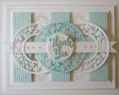 Thank You (PartiCraft (Participate In Craft)) - Adventskalender Basteln Cool Cards, Diy Cards, Spellbinders Cards, Embossed Cards, Die Cut Cards, Card Making Inspiration, Creative Cards, Scrapbook Cards, Homemade Cards