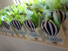 "Personalised ""Hot Air Balloon"" themed children's goodie bags, by Odyssey Events"