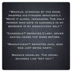 Jace Wayland, Clary Fray and Magnus Bane (City of Bones ~ Mortal Instruments) Quote