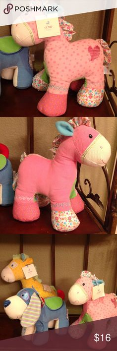 Pinkaboo the Pony by Gund Gunds, pink patch work corduroy pony is sure to be a favorite for any child to cuddle and love! Machine washable! Gund Other