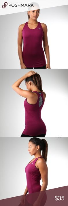 SOLD OUT Plum Gymshark tempo vest NWT Brand new with tags! Super cute. SOLD OUT online. gymshark Tops Tank Tops
