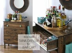 IKEA HACK: TARVA DRESSER TO BAR CART