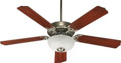 Ceiling Fans Decoration | Quorum International 775259265 Capri III 52Inch 2 Light  Ceiling Fan Satin Nickel Finish with Faux Alabaster Glass Bowl and  Reversible Blades * Details can be found by clicking on the image. Note:It is Affiliate Link to Amazon. #l4l