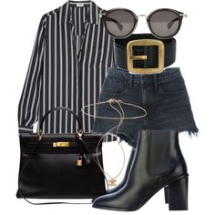 Untitled #1835 by mariandradde on Polyvore featuring Frame Denim, Alexander Wang, Yves Saint Laurent, Hermès and Moncler