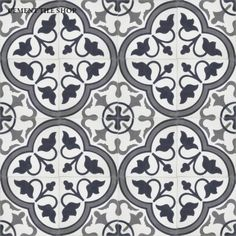 Roseton Black - Cement Tile
