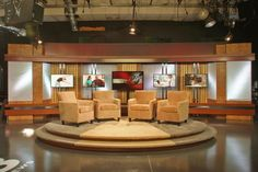 Condit specializes in designing and fabricating custom trade show exhibits, temporary structures, museum exhibitions and corporate installations. Tv Set Design, Stage Set Design, Booth Design, Virtual Studio, Temporary Structures, Studio Setup, Studio Design, Tv Sets, News Studio