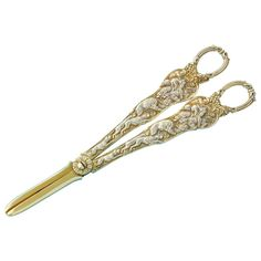#Fantastic, Stag Hunt Pattern, Large #Sterling #Silver #Grape Shears. #Antique https://estatesilver.com/index.php?route=product/product&product_id=398