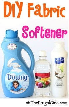 DIY Homemade Fabric Softener Recipe! ~ from TheFrugalGirls.com ~ this is SO simple to make and such a huge money saver! #laundry #cleaners #thefrugalgirls