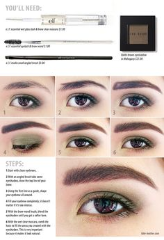 Thick eyebrows tutorial/ I like having different guides to the same thing because people read and understand in different ways.