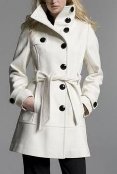 wool coats in many colors...white