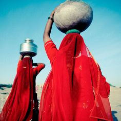 Stock photo of Rajasthani women carrying water. India by hughsitton Water Issues, Patriarchy, Working With Children, Warm Colors, Carry On, The Unit, Culture, Stock Photos, Lineage
