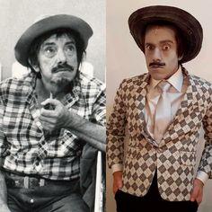 O ator Adriano Tunes caracterizado de MAZZAROPI para o espetáculo HEBE - O MUSICAL.  Direção de Miguel Falabella  Visagismo Anderson Bueno