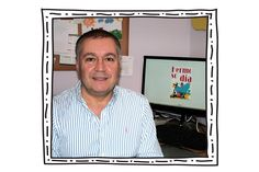 """Veterinario e ilustrador. Elisardo Barcala dedica su tiempo a sus dos pasiones. Tanto la Veterinariacomo la ilustración son sus vocaciones: """"elegí la primera para estudiar y trabajar y la segunda para mi tiempo libre, como afición y formación autodidacta, porque me"""