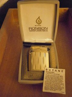 Original Ronson Varaflame MK II butane lighter repair parts with Case Brush
