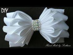 Бантик из ленты КАНЗАШИ  DIY Bows made of ribbon Kanzashi Laço de Cetim - YouTube