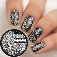 Pandox Chic Lace Pattern Nail Art Stamping Template Image Stamp Plate AP02 Nail Stamping Plates Nail Art Decorations