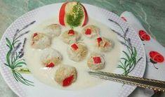 Almakrémleves, vaníliás-almás zabkása gombóccal