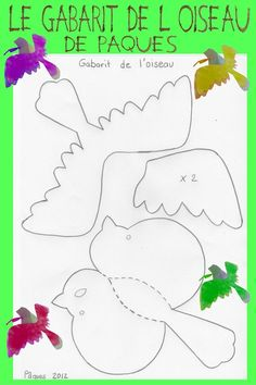 """Oiseaux de Pâques """"le gabarit"""""""