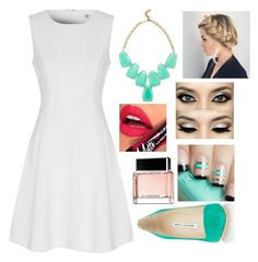 """""""Untitled #692"""" by aneesakhan02 ❤ liked on Polyvore featuring True Decadence, Manolo Blahnik, Kendra Scott and Givenchy"""