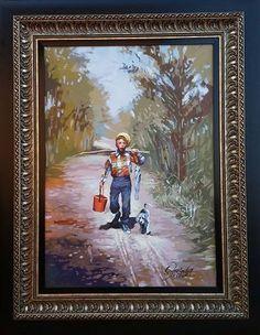 Wakaba Mutheki - Going fishing Going Fishing, Painting, Art, Art Background, Painting Art, Kunst, Paintings, Gcse Art