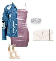 Untitled #7 by jacqueline-jj on Polyvore featuring polyvore, fashion, style, WithChic, Boohoo, Giuseppe Zanotti, Yves Saint Laurent, Graff and clothing