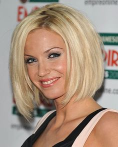 Sarah-Harding. Medium Layered Bob