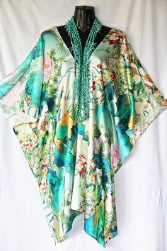 Exquisite stretch silk Kaftan by Molly Kaftans by MollyKaftans, $249.00