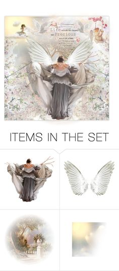 """""""Heavenly Angels"""" by krystalkm-7 ❤ liked on Polyvore featuring art"""