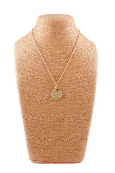"""Necklace. 16"""" chain. Proceeds go to the MiaMoo Fund. Zinc alloy with gold plating + special brush line. Protective coating on both sides.  **To find out more information or to donate to the Mia Moo Fund, please go to http://www.miamoo.org **"""