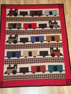 train quilt ~ wonder if I could pull something like this off...