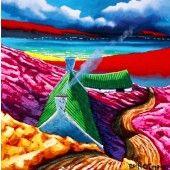 Purple coast Fine Art Prints, Outdoor Decor, Ireland, Coast, Paintings, Purple, Paint, Art Prints, Painting Art