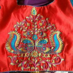 Embroidery on the back