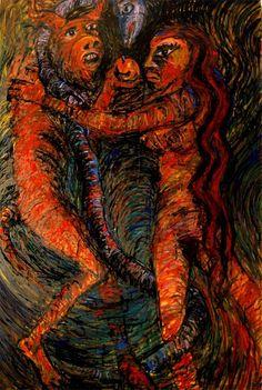 O pecado capital, Pintura Painel Animais original por Alberto Péssimo Painting, Seven Deadly Sins, The Originals, Etchings, Dashboards, Animals, Dibujo, Pintura, Artists