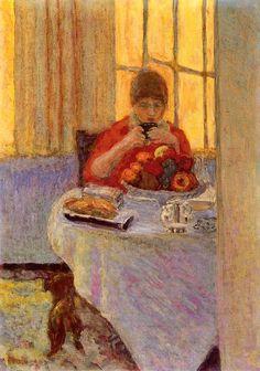 Breakfast / Pierre Bonnard - 1917