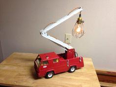 Tonka Fire Truck Lamp
