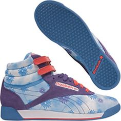 """Hot Trend: Colorful Sneakers: Reebok """"Freestyle Hi Psych Classic Shoe"""" in Blue/Grape/Red/Green/Yellow, $64.99"""
