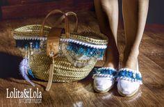 #capazo y #espartinas de #lolitaylola #boho chic #strawbag #shoes #espartoshoes #moda #complementos #fashion diseñado por #yolandafaguilera www.tendenciaslolitaylola,blogspot.com.es