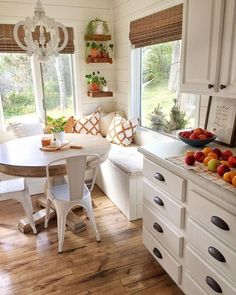 Details Of The Cottage Interior has never been so Modest! Since the beginning of the year many girls were looking for our Trending guide and it is finally got released. Now It Is Time To Take Action! See how... #interiors #homedecor #interiordesign #homedecortips Home Decor Kitchen, New Kitchen, Home Kitchens, Kitchen With Nook, Kitchen With Breakfast Nook, Kitchen Ideas, Breakfast Nook Decor, Small Breakfast Nooks, Minimal Kitchen
