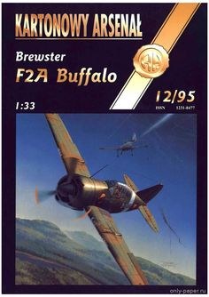 Brewster F2a Buffalo (Halinski KA 12/1995), 1:33 paper model, maybe good for RC 1:16 conversion.