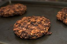 Quick & Easy Black Bean Burgers (6 ingredients! 15 minutes!) Made some tweeks of course-fresh garlic, onion, and herbs and substituted a little barbecue sauce for the ketchup and mustard.